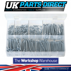 Split Pins - Imperial (Small Sizes) - 800 Pieces - Assorted Box