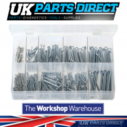 Split Pins - Imperial & Metric - 370 Pieces - Assorted Box
