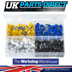 Security Number Plate Fasteners - 200 Pieces - Assorted Box