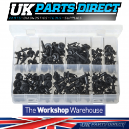Screw-Type Rivets - 130 Pieces - Assorted Box