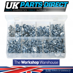 Sheet Metal Screws with Captive Washers - 300 Pieces - Assorted Box