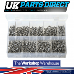Stainless Steel Self-Tapping Screws - Pan Head - Pozi - 450 Pieces