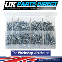 Self-Drilling Screws - Pan Head - Phillips - 500 Pieces - Assorted Box