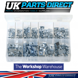 U-Nuts (Speed Fasteners) - 200 Pieces - Assorted Box