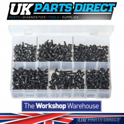 Self-Tapping Screws - Flanged Pan Head - TORX Black - 450 Pieces - Assorted Box
