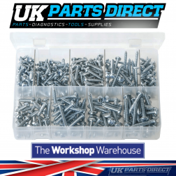 Self-Tapping Screws - Pan Head - Pozi (Large Sizes) - 300 Pieces - Assorted Box