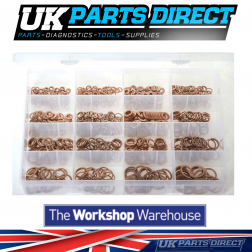 "Copper Sealing Washers - Metric - 1050 Pieces - Assorted ""MAX"" Box"