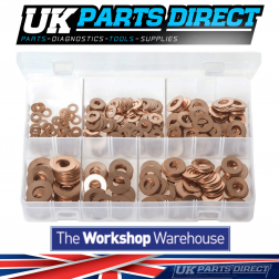 Copper Washers - Imperial - 400 Pieces - Assorted Box