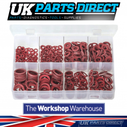 Fibre Washers - Imperial - 600 Pieces - Assorted Box