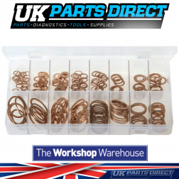 Copper Sealing Washers - Imperial/BSP - 225 Pieces - Assorted Box