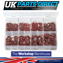 Fibre Washers - Metric - 600 Pieces - Assorted Box