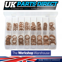 Copper Sealing Washers - Metric - 250 Pieces - Assorted Box