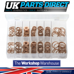Diesel Injector Washers - 250 Pieces - Assorted Box