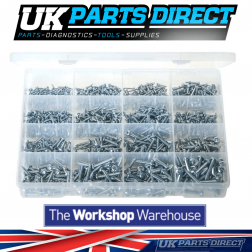 "Self-Tapping Screws - Pan Head - Pozi - 1150 Pieces - Assorted ""MAX"" Box"
