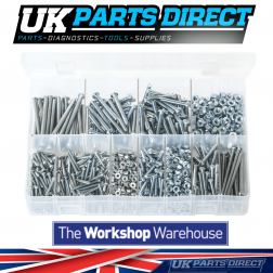 Machine Screws with Nuts - BA Zinc - Round Head - Slotted - 1025 Pieces