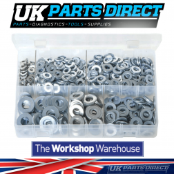 Flat Washers 'Table 3' - Imperial - 800 Pieces - Assorted Box