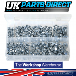 Steel Nuts - Metric (Popular Sizes) - 370 Pieces - Assorted Box