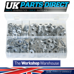 Flat Washers 'Form C' - Metric - 620 Pieces - Assorted Box