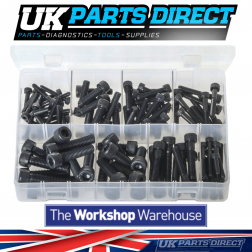 Socket Screws - Cap Head - Metric Black - 100 Pieces - Assorted Box
