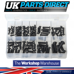 Socket Screws - Button Head - Metric Black - 115 Pieces - Assorted Box