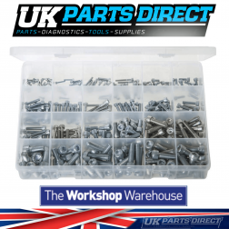 Socket Screws - Cap Head - Metric Zinc - 300 Pieces - Assorted Box