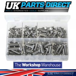 Stainless Steel Set Screws - Metric - 120 Pieces - Assorted Box