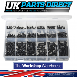 Socket Screws - Cap Head - Metric Black - 270 Pieces - Assorted Box