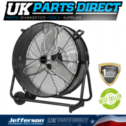 Jefferson Tools 30'' Commercial Drum Fan 110V