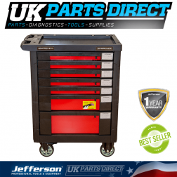 Jefferson Tools 7 Drawer Professional Tool Chest with 146 Tools