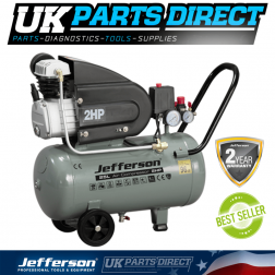 Jefferson Tools 25 Litre 2HP Compressor 230V - 2 YEAR WARRANTY