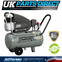 Jefferson Tools 25 Litre 2HP Compressor 110V - 2 YEAR WARRANTY