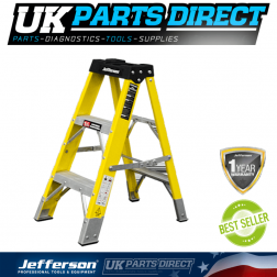 Jefferson Tools 2+1 Tread Fibreglass Step Ladder