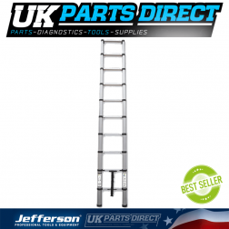 Jefferson Tools 2.9m Safe Close Telescopic Ladder