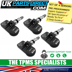 Vauxhall Astra H [4 Door] TPMS Tyre Pressure Sensor (07-09) - FULL SET OF 4 - PRE-CODED - 13172567