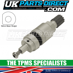 Dacia Duster Pickup Tyre Valve Repair Stem (16-18) - For Schrader High Speed Snap-In