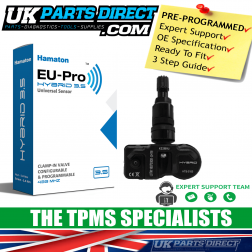 BMW 3 Series TPMS Tyre Pressure Sensor (13-19) (F30/F31) - BLACK STEM - PRE-CODED - 36106856209