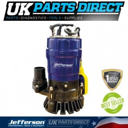 Jefferson Industrial 500W 230V Submersible Water Pump For Pond / Pool / Flood - JEFSUBPIDW210-12S