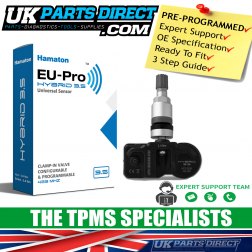 Peugeot Bipper (07-18) TPMS Tyre Pressure Sensor - PRE-CODED - Ready to Fit