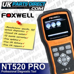 Vauxhall FULL SYSTEM PROFESSIONAL Diagnostic Scan Reset Tool Foxwell NT520
