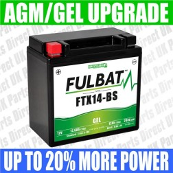 BMW K1300R, S (09-16) FULBAT GEL UPGRADE BATTERY - YTX14 - FTX14