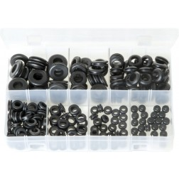 Assorted Box of Grommets - Wiring - 220 Pieces