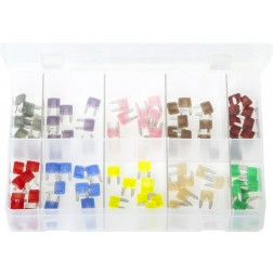 Assorted Box of LITTELFUSE MINI Blade Fuses - 100 Pieces