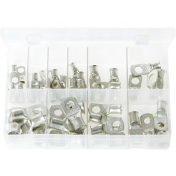 Assorted Box of Copper Tube Terminals - 40 Pieces