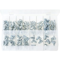 Assorted Box of Grease Nipples - Metric - 125 Pieces