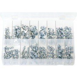 Assorted Box of Grease Nipples - Metric & Imperial - 130 Pieces