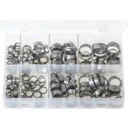 Assorted Box of OETIKER '167' O-Clips - Single Ear Clamps - 160 Pieces