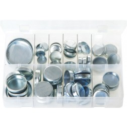 Assorted Box of Core Plugs - Cup Type - Metric - 60 Pieces