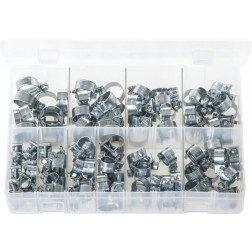 Assorted Box of Mini Hose Clips - 100 Pieces