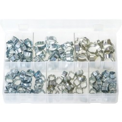 Assorted Box of O-Clips - 2-Ear Clamps - 140 Pieces
