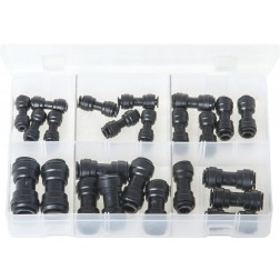 Assorted Box of Quick-Fit Couplings - Metric - Straights - 24 Pieces